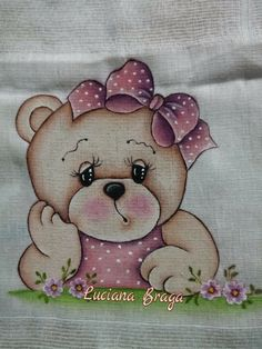 Suzy Figueiredo's media content and analytics Baby Girl Quilts, Girls Quilts, Tole Painting, Fabric Painting, Bear Paintings, Baby Sewing Projects, Cute Teddy Bears, Painting Videos, Colorful Drawings