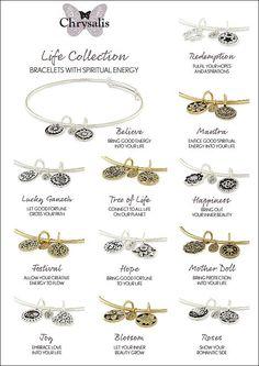 Chrysalis bracelets with spiritual energy