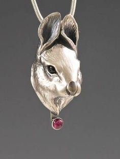 handcrafted animal totem jewelry, silver bunny jewelry, silver rabbit jewelry necklace