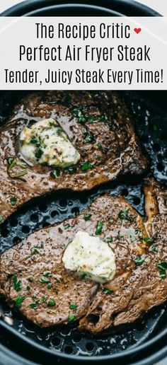 Air Fryer Oven Recipes, Air Frier Recipes, Air Fryer Dinner Recipes, Beef Recipes, Cooking Recipes, Ninja Recipes, Recipies, Copycat Recipes, Air Fryer Steak