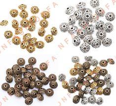 40Pcs Multi-Color Acrylic Diamond Alloy Metal Beads Finding