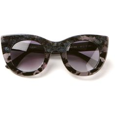 Thierry Lasry Gradient Black And Blue Pearl Sunglasses ($180) ❤ liked on Polyvore featuring accessories, eyewear, sunglasses, glasses, occhiali, thierry lasry glasses, blue lens sunglasses, blue glasses, lens glasses and gradient lens sunglasses