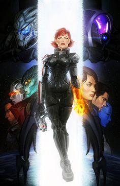 Mass Effect Squad Goals Print