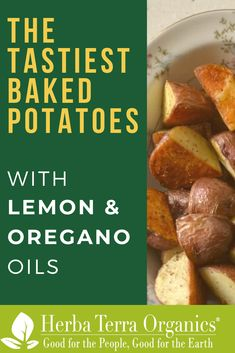 Our recipe for Baked Potatoes with Oregano and Lemon Essential Oils brings out the health in eating potatoes or any salad of your choosing, plus it tastes great!   Essential Oils are able to act as a cure for many different illnesses as some of them can replace dry or fresh herbs and spices in cooking.   The oils have antioxidant properties and can help with SIBO.   Why not give it a try?   #herbaterraorganics #organicoils #lemonoil #oreganooil #cookingwithessentialoils
