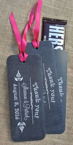 Chalkboard inspired candy bar wrappers #wedding