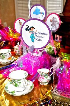 Princess jasmine and Aladdin Birthday Party Favors by ...
