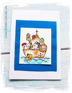 Arche Noah kostenlos ausdrucken als Briefpapier und als Grußkarte ★ ein liebevoll gestaltetes Motiv und viele weitere Motive