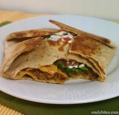 homemade healthy version of a crunchwrap supreme!!