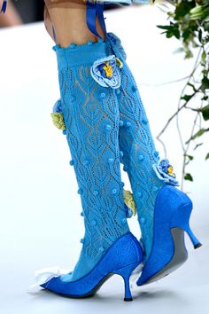 Meadham Kirchhoff, Lace Socks, Crochet Socks, Velvet Slippers, Funky Shoes, Socks And Heels, Fashion Socks, Knitting Accessories, Sock Shoes