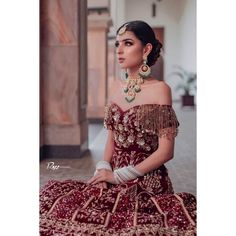 These Maroon Bridal Lehengas Are The New Bridal Color That You Must Consider. For more such bridal information, visit shaadiwish. Indian Wedding Wear, Indian Bridal, Wedding Updo, Indian Weddings, Indian Wear, Wedding Dress, Indian Designer Outfits, Indian Outfits, Lehenga Color Combinations
