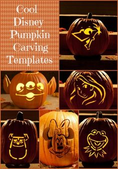 Cool Disney Pumpkin Carving Templates