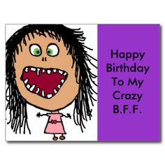 Funny Happy Birthday | Funny Happy Birthday Card Postcard from Zazzle.com