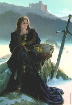 Anna of the Celts:  Artist Dean Morissey   Anna was the figure they looked toward to protect them in battle. She represented loyalty, purity of spirit, and courage of conviction.
