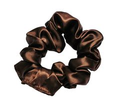 Scrunchies Brown Satin Ponytail Holder Free by ScrunchieKing