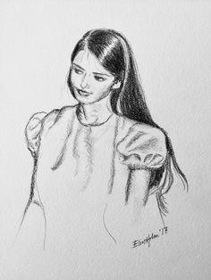 Elin Holm - Self portrait 17 yrs (pencildrawing)