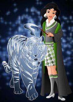 Disney Hogwarts students: Jasmine by Willemijn1991