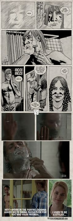 Episode Panel to Screen Comparison - The Walking Dead Official Site - Comics & TV Show The Walking Death, Keep Walking, Twd Comics, Walking Dead Comics, Comic Art, Comic Books, Tv, Graphic Novels, Movies