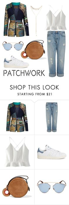 """Patchwork glow"" by ana-amorim ❤ liked on Polyvore featuring Etro, J Brand, WithChic, adidas, Carven, Christian Dior, South Moon Under and patchwork"