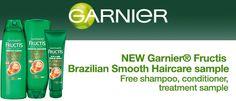 Freebies Offer: FREE Garnier Fructis Brazilian Smooth Haircare Sample