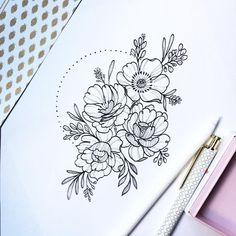 dessins de tatouage 2019 For that friend who deserve beautiful flowers after the week - Tattoo Designs Photo Trendy Tattoos, Unique Tattoos, Beautiful Tattoos, New Tattoos, Body Art Tattoos, Cool Tattoos, Tatoos, Flower Tattoo Drawings, Flower Tattoos