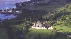 Inveraray Castle, Argyll, Scotland. A magnificent Scottish castle and ancestral home of the Duke of Argyll. An Inveraray Castle has been standing on the shores of Loch Fyne since the 1400s, although the impressive castle we know today was inspired by a sketch by Vanburgh, the architect of Blenheim Palace and Castle Howard in the 1700s.