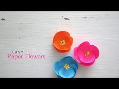(95) Easy Paper Flowers - YouTube