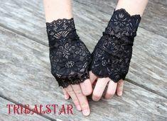 Lace Gloves by TribalStarFantasy on Etsy