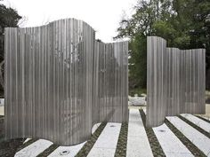 Transparant en toch scheidend Stainless Steel Garden Sculpture/Screen…