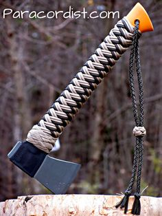 Paracordist Creations LLC - Fiskars X7 camp hatchet w/ handcrafted 550 cord. • How 2 make it YouTube video >  Fiskars X7 hatchet turks head paracord handle wrap and adjustable lanyard... https://www.youtube.com/watch?v=zt4ty5WEwc8