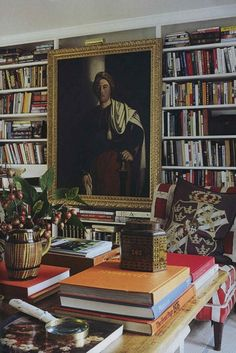 Anna Wintour's library | The World of Interiors, October 2010