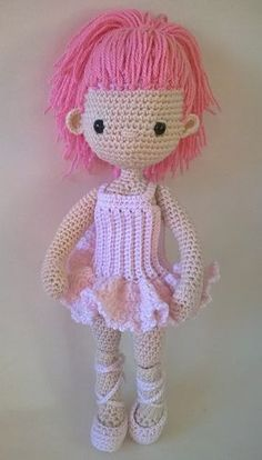 Patrón gratis amigurumi de bailarina rosa!