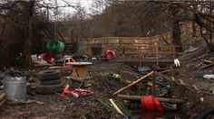 Inside a European Adventure Playground - Kasia Cieplak-Mayr von Baldegg - The Atlantic: A radical departure from standard safety-conscious playgrounds, the Land is a Welsh playground that fosters 'risky play'.  #Playgrounds #Adventure