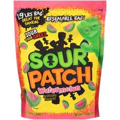 Sour Patch Watermelon Soft & Chewy Candy - Chewy Candy - Ideas of Chewy Candy - Sour Patches, Sour Patch Kids, Best Candy, Favorite Candy, Fini Tubes, Sour Patch Watermelon, Chewy Candy, Sour Candy, Chips