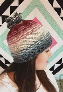Free hat pattern with gorgeous color gradient!