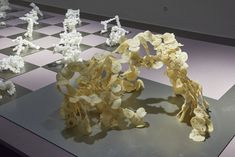 MAK Exhibition View, 2020 CREATIVE CLIMATE CARE Chien-hua Huang. Reform Standard in the front: plastic shell (Final model outcome) MAK GALLERY © MAK/Georg Mayer Shell, Museum, Plastic, Gallery, Creative, Projects, Model, Design, Log Projects