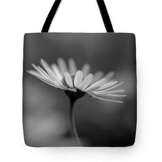 "Sunny Daisy Black and white 1 Tote Bag 18"" x 18"""