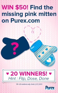 Repin if you found the mittens on Purex.com! #sweepstakes