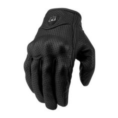 ICON - Pursuit Touchscreen Perforated Leather Motorcycle Gloves - Mesh - Gloves - Street - Cycle Gear
