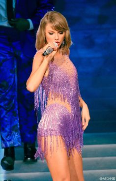 Taylor performing Style during the 1989 World Tour in Shanghai night two 11.11.15