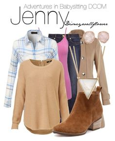 """Jenny- Adventures in Babysitting DCOM"" by disneywallflower ❤ liked on Polyvore featuring Miss Selfridge, Tory Burch, M&Co, LE3NO, Panacea and Monica Vinader"