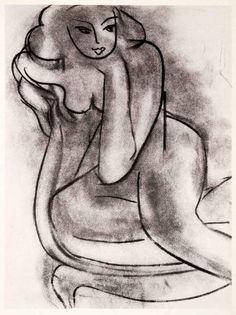 1969 Photolithograph Henri Matisse Art Nude on a Chair Charcoal Sketch Female Henri Matisse, Matisse Drawing, Matisse Art, Charcoal Sketch, Charcoal Drawing, Picasso Paintings, Watercolor Artists, Watercolor Painting, Art Graphique