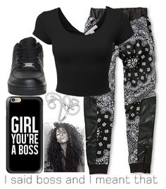 """""""Boss~~"""" by ja-la ❤ liked on Polyvore featuring Casetify, LE3NO, Beverly Hills Charm and NIKE"""