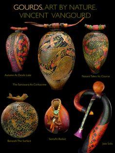Gourds, art by nature vincent van gourd    breathtaking detail.