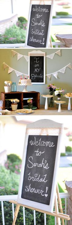 Chalkboard Sign | DIY Bridal Shower Party Ideas on a Budget