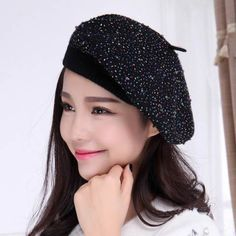 Trilby beret hats for women winter hats British style