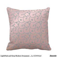 LightPink and Grey Modern Ornament Pattern