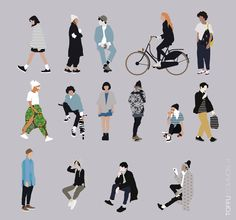15 Vector Common People Pack Toffu For more ww Collage Architecture, Architecture People, Architecture Drawings, Render People, People Png, People Cutout, People Illustration, Drawing People, Person Drawing