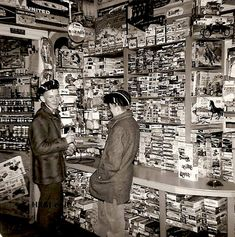 Neighborhood Hobby Shop stocked with Vintage models, shot from days gone by