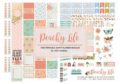 Heyya!! It is time for another free printable guys. This time around I decided to go with peach and minty theme. It was inspired by Marisa L...
