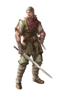 m Male Human Bandit Thug Rogue - Pathfinder PFRPG DND D&D d20 fantasy